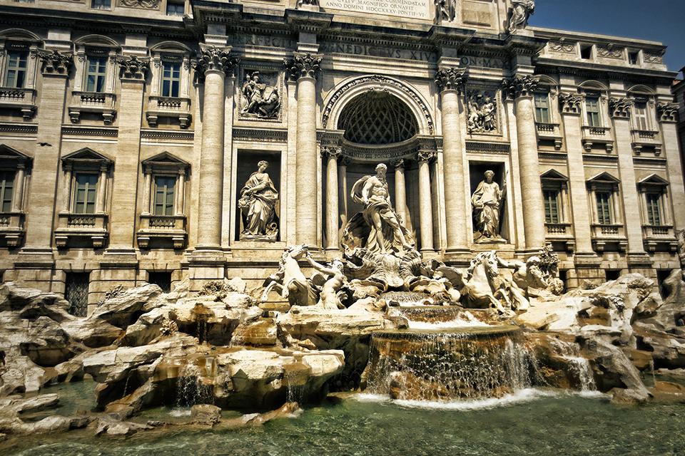 fontana trevi curso italiano