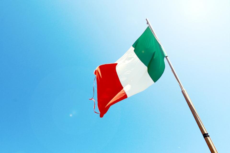 bandera italia curso italiano